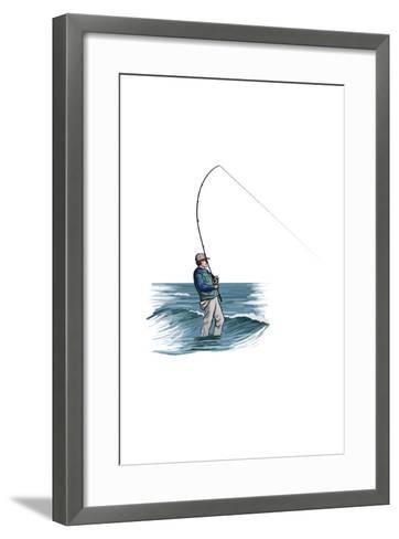 Sea Fisherman - Icon-Lantern Press-Framed Art Print