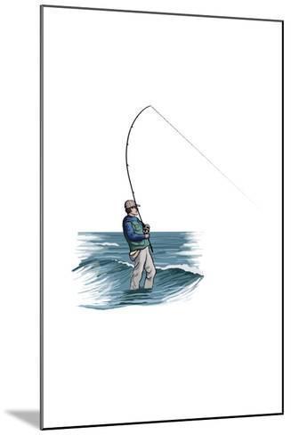 Sea Fisherman - Icon-Lantern Press-Mounted Art Print