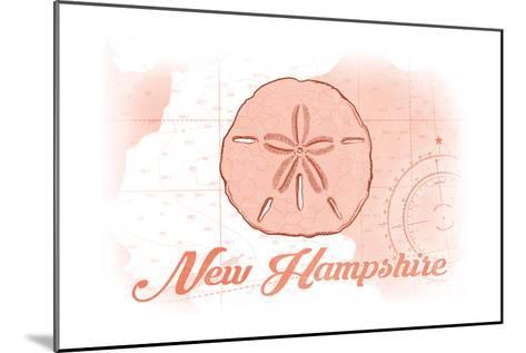 New Hampshire - Sand Dollar - Coral - Coastal Icon-Lantern Press-Mounted Art Print