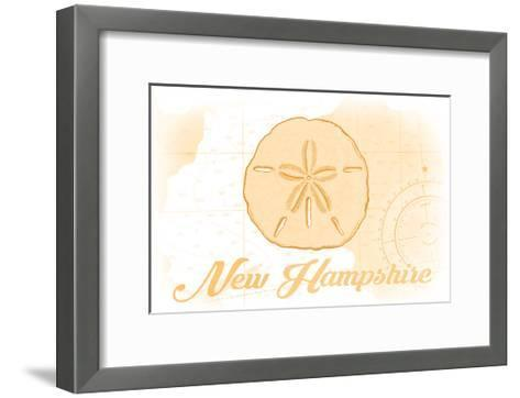 New Hampshire - Sand Dollar - Yellow - Coastal Icon-Lantern Press-Framed Art Print