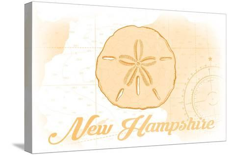 New Hampshire - Sand Dollar - Yellow - Coastal Icon-Lantern Press-Stretched Canvas Print