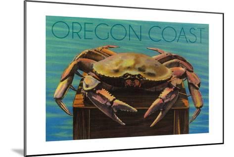 Oregon Coast - Dungeness Crab Vintage Postcard-Lantern Press-Mounted Art Print