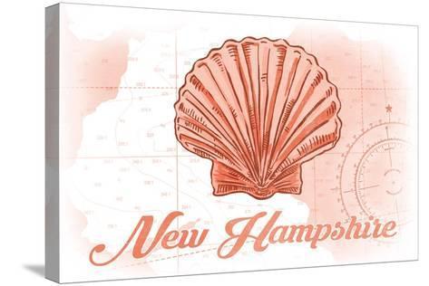 New Hampshire - Scallop Shell - Coral - Coastal Icon-Lantern Press-Stretched Canvas Print