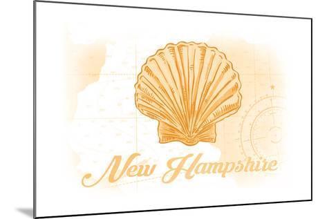 New Hampshire - Scallop Shell - Yellow - Coastal Icon-Lantern Press-Mounted Art Print