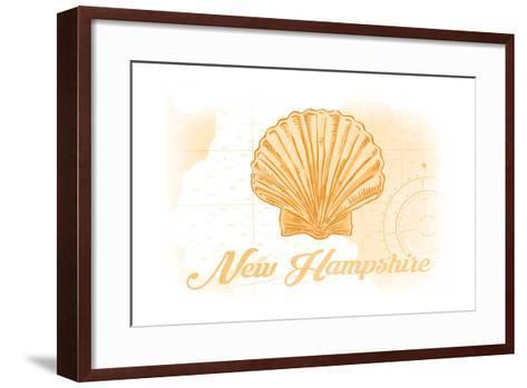 New Hampshire - Scallop Shell - Yellow - Coastal Icon-Lantern Press-Framed Art Print