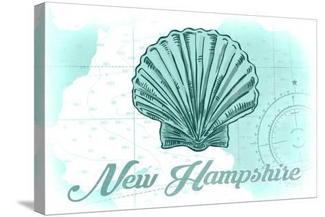 New Hampshire - Scallop Shell - Teal - Coastal Icon-Lantern Press-Stretched Canvas Print