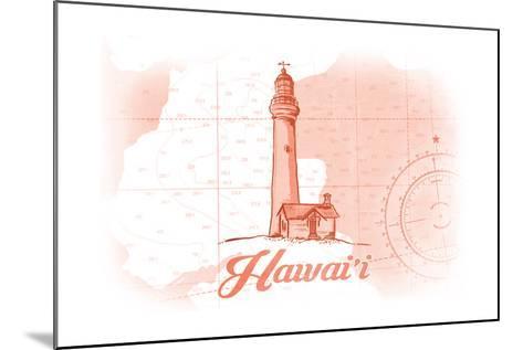 Hawaii - Lighthouse - Coral - Coastal Icon-Lantern Press-Mounted Art Print