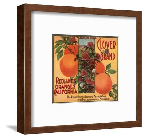 Clover Brand - Redlands, California - Citrus Crate Label-Lantern Press-Framed Art Print