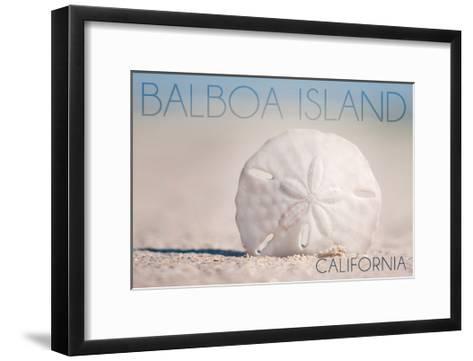 Balboa Island, California - Sand Dollar and Beach-Lantern Press-Framed Art Print
