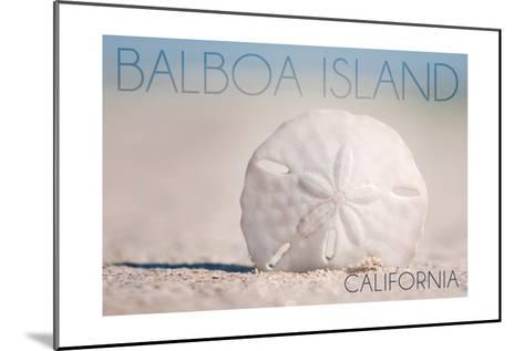 Balboa Island, California - Sand Dollar and Beach-Lantern Press-Mounted Art Print