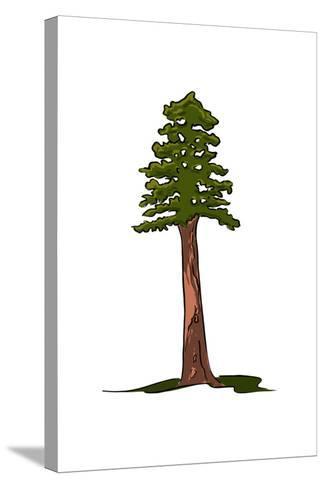 Redwood Tree - Icon-Lantern Press-Stretched Canvas Print