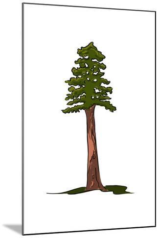 Redwood Tree - Icon-Lantern Press-Mounted Art Print