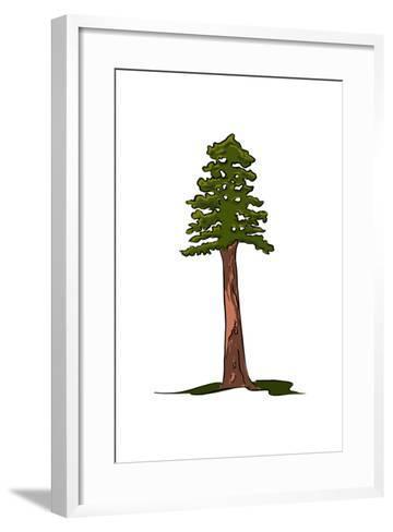 Redwood Tree - Icon-Lantern Press-Framed Art Print