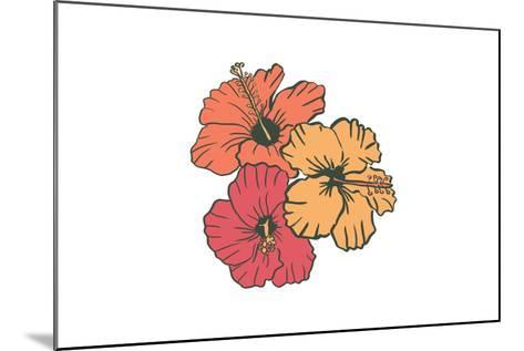 Hibiscus Flowers - Icon-Lantern Press-Mounted Art Print