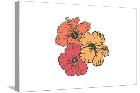 Hibiscus Flowers - Icon-Lantern Press-Stretched Canvas Print