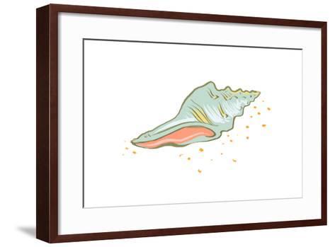 Shell - Icon-Lantern Press-Framed Art Print