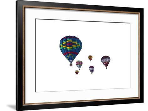 Hot Air Balloons - Icon-Lantern Press-Framed Art Print