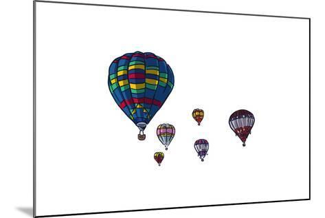 Hot Air Balloons - Icon-Lantern Press-Mounted Art Print