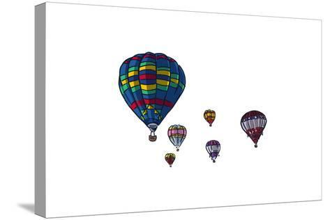 Hot Air Balloons - Icon-Lantern Press-Stretched Canvas Print