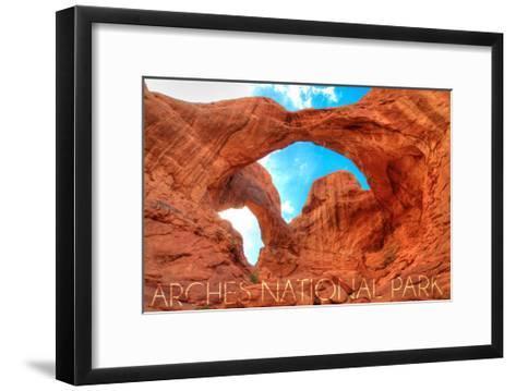 Arches National Park, Utah - Daytime Blue Sky-Lantern Press-Framed Art Print