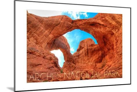 Arches National Park, Utah - Daytime Blue Sky-Lantern Press-Mounted Art Print
