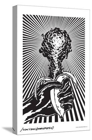 Atomic Banana - John Van Hamersveld Poster Artwork-Lantern Press-Stretched Canvas Print