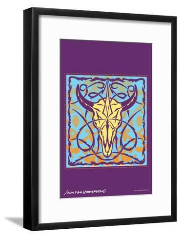 Cow Skull - John Van Hamersveld Poster Artwork-Lantern Press-Framed Art Print