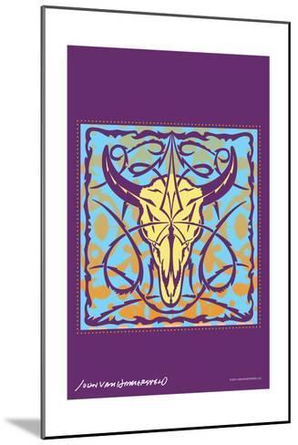 Cow Skull - John Van Hamersveld Poster Artwork-Lantern Press-Mounted Art Print