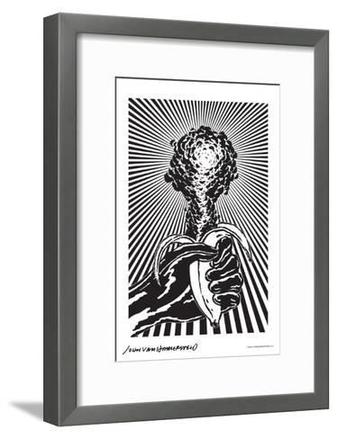 Atomic Banana - John Van Hamersveld Poster Artwork-Lantern Press-Framed Art Print