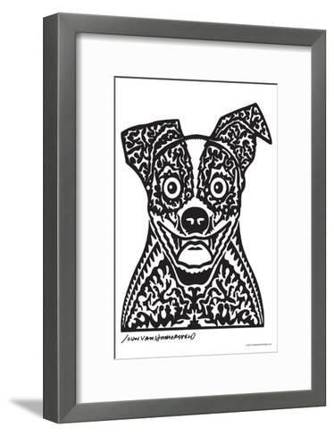 Woof - John Van Hamersveld Poster Artwork-Lantern Press-Framed Art Print