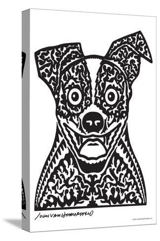 Woof - John Van Hamersveld Poster Artwork-Lantern Press-Stretched Canvas Print