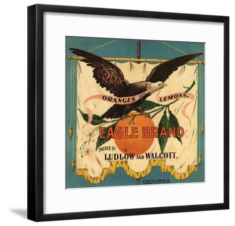 Eagle Brand - California - Citrus Crate Label-Lantern Press-Framed Art Print