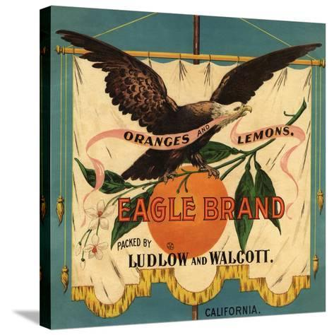 Eagle Brand - California - Citrus Crate Label-Lantern Press-Stretched Canvas Print