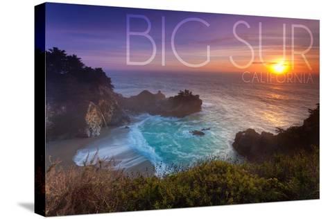 Big Sur, California - McWay Cove-Lantern Press-Stretched Canvas Print