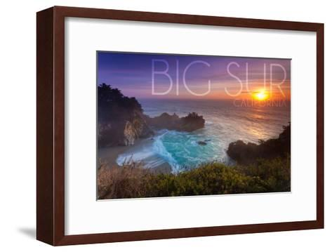 Big Sur, California - McWay Cove-Lantern Press-Framed Art Print