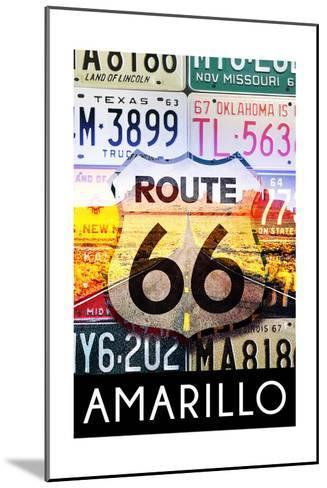 Amarillo Texas - Route 66 License Plates-Lantern Press-Mounted Art Print