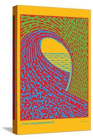 The Next Wave - Green and Blue - John Van Hamersveld Poster Artwork-Lantern Press-Stretched Canvas Print