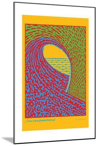 The Next Wave - Green and Blue - John Van Hamersveld Poster Artwork-Lantern Press-Mounted Art Print