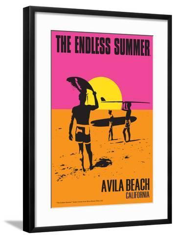 Avila Beach, California - The Endless Summer - Original Movie Poster-Lantern Press-Framed Art Print