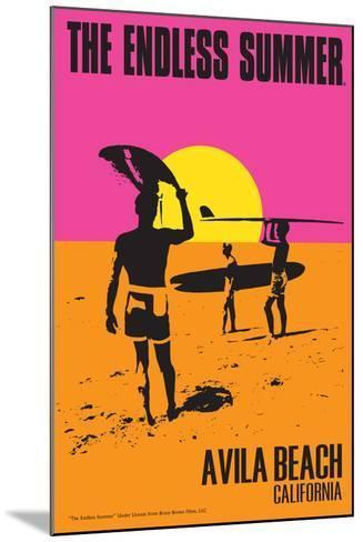 Avila Beach, California - The Endless Summer - Original Movie Poster-Lantern Press-Mounted Art Print