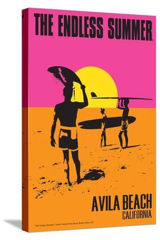 Avila Beach, California - The Endless Summer - Original Movie Poster-Lantern Press-Stretched Canvas Print