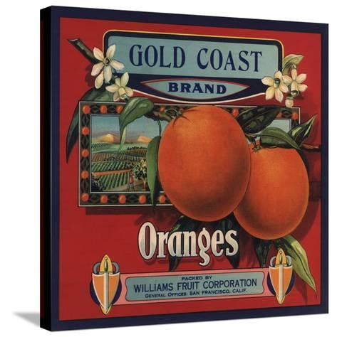 Gold Coast Brand - San Francisco, California - Citrus Crate Label-Lantern Press-Stretched Canvas Print