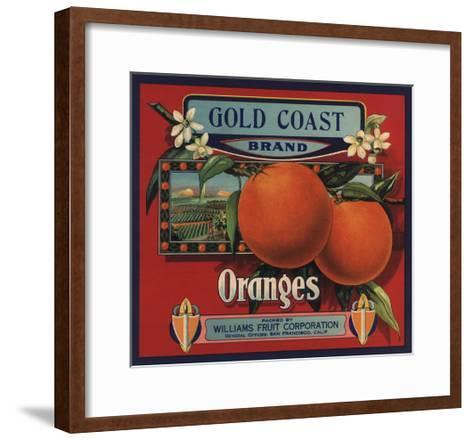 Gold Coast Brand - San Francisco, California - Citrus Crate Label-Lantern Press-Framed Art Print