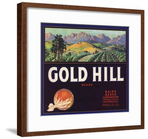 Gold Hill Brand - Porterville, California - Citrus Crate Label-Lantern Press-Framed Art Print