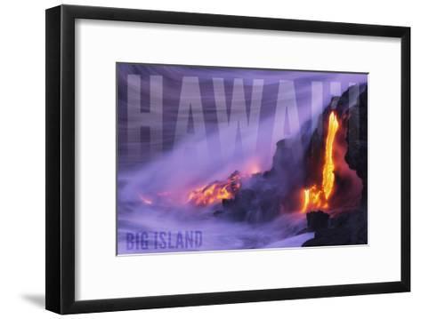 Big Island - Hawaii - Lava Flow-Lantern Press-Framed Art Print