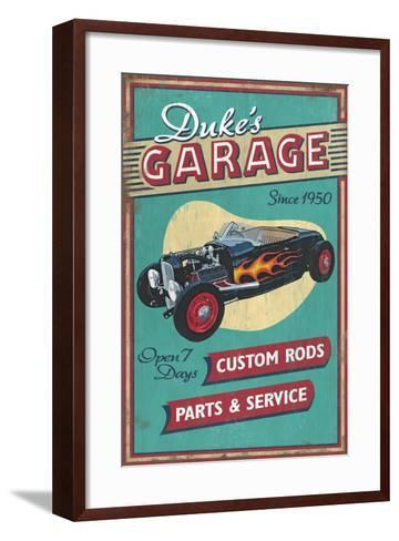 Dukes Garage - Vintage Sign-Lantern Press-Framed Art Print