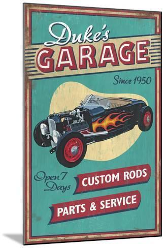 Dukes Garage - Vintage Sign-Lantern Press-Mounted Art Print