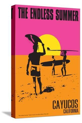 Cayucos, California - the Endless Summer - Original Movie Poster-Lantern Press-Stretched Canvas Print
