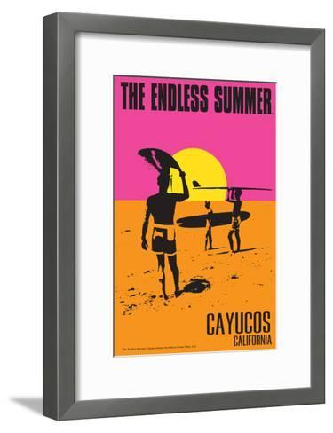 Cayucos, California - the Endless Summer - Original Movie Poster-Lantern Press-Framed Art Print