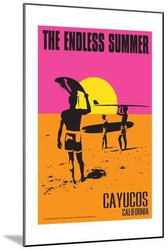 Cayucos, California - the Endless Summer - Original Movie Poster-Lantern Press-Mounted Art Print